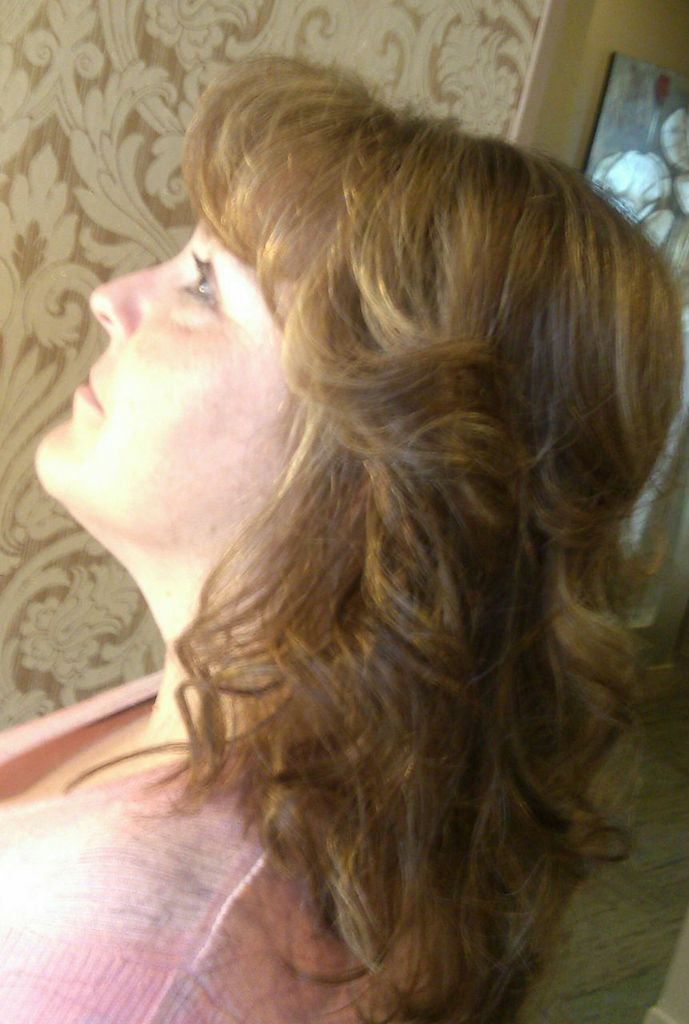 natural Wavy - Fine Hair - Side View