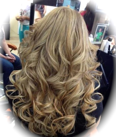 Flowing Blonde Tresses