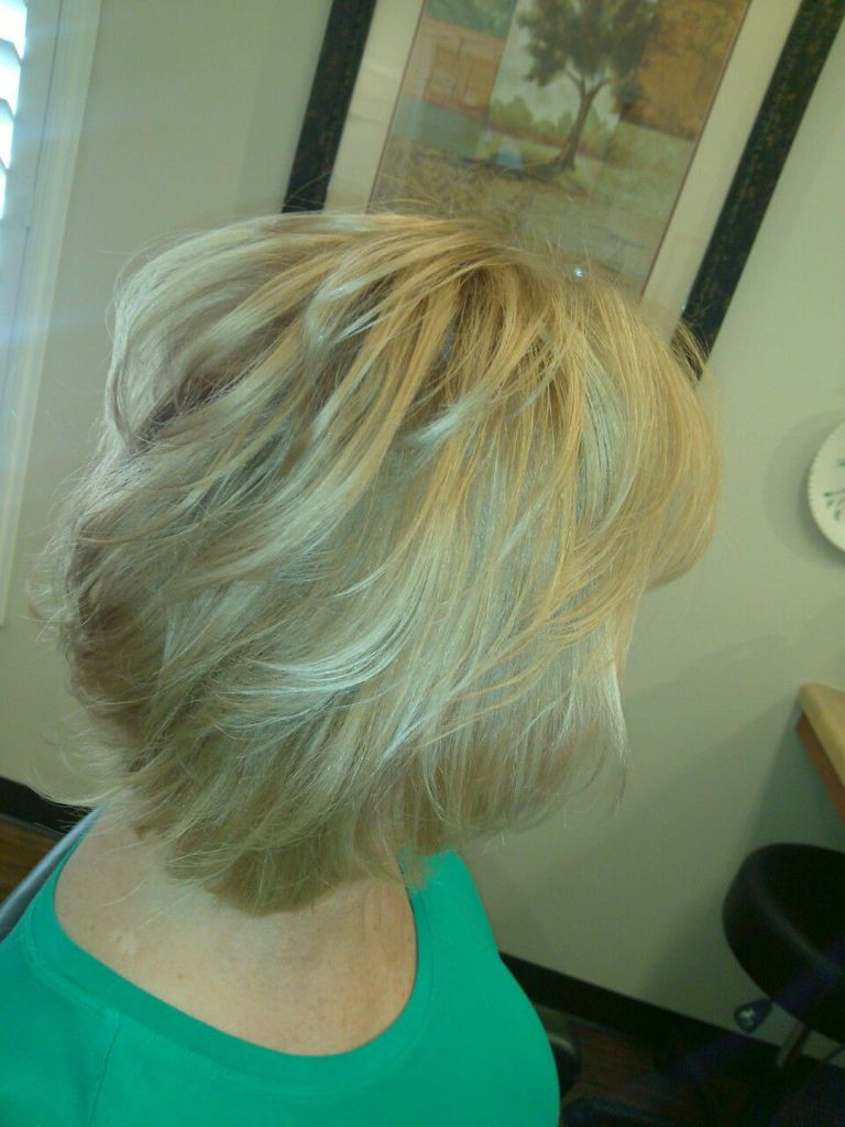 Wispy Short Blond - Back View